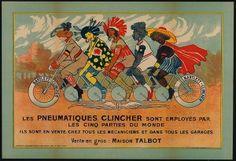 Les pneumatiques Clincher sont employés par les cinq parties du monde:Bartlett-Clincher (Commercial & advertising posters) #Booktower