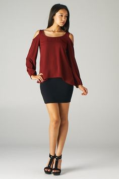 Lavishville - Cut-out Shoulder Top (Wine), $25.00 (http://www.lavishville.com/cut-out-shoulder-top-wine/)