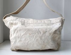 vintage 1950s newspaper bag. Kingston Daily by Luncheonettevintage