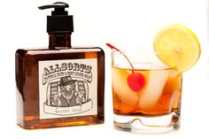 Vegan Organic Hand and Body Liquid Castile Soap Made in America with All Natural Ingredients -- Allsorts Liquor Scented Whisky Sour Flask. $16.95, via Etsy.