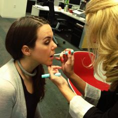 Step 3: Prime. Lip primer provides an even surface for which to apply the color.