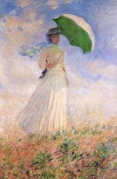 """""""Essai defigure enplein air (vers la droite)""""  by Claude Monet, 1886"""