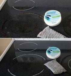 How to Clean your ceramic stove, the CHEMICAL free way! Use the Norwex Spirisponge and Cleaning Paste to tackle this job!