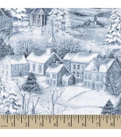 Holiday Inspirations� Christmas Fabric-Susan Winget The Midst Of Winter Glitter