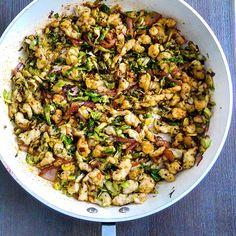Halushki (easy homemade Slovak pasta dumplings) with cabbage and onion! Yum!
