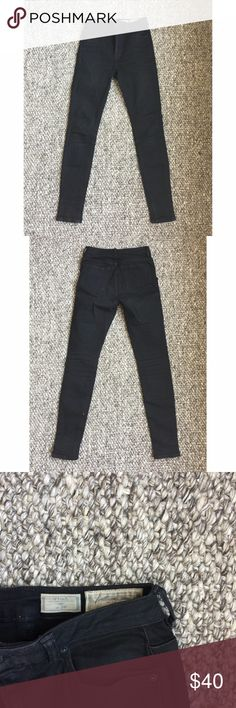 """LAST CHANCE: All Saints Stilt 26 High waisted Used but still in good shape. Black is faded for """"rocker"""" wash. All Saints Jeans Skinny"""