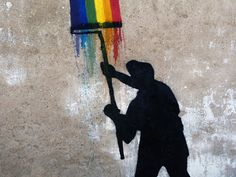 Artist: JEF AEROSOL .. Fresco made in the court of the prison by inmates of the Central Prison St Martin de Ré (France)