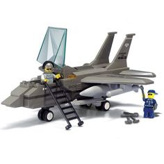 Sluban Military Air Force Fighter Jet Army Plane DIY Model Building Blocks Bricks Toy Gift Compatible with Legoe Friends Model Building Kits, Building For Kids, Building Toys, Lego City Plane, Plane Toys, Fighter Aircraft, Fighter Jets, Lego Ville, Best Lego Sets