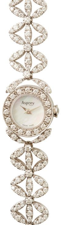 Ask your man to gift it to you for $48 Grand only Asprey Daisy Heritage Diamond Watch Silver