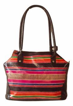 India Handmade Leather Boho Rainbow Ethnic Shantiniketan Shoulder Tote Bag a01de2f9714