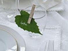 fresh leaves or paper ones. Wedding Table, Diy Wedding, Rustic Wedding, Deco Champetre, Festa Party, Wedding Decorations, Table Decorations, Baby Shower Fun, Wedding Places