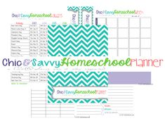 FREE Homeschool Planner and Meal Planner for 2013-2014