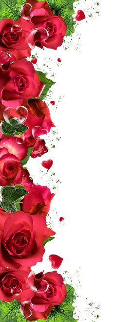 Red Roses Ornament Decor PNG Clipart Picture