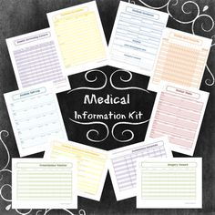 Medical Information Kit 10 Documents. INSTANT Download! on Etsy, $10.00