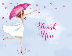 Bridal Love Reigns Thank You Notes