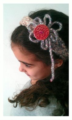 Pink Flower Headband by NadiasKnits on Etsy, $15.00