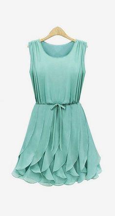 Tiered Ruffles Dress - Mint