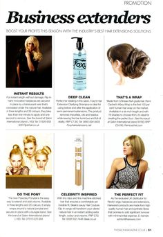 The Salon Magazine extensions feature. #FoxyHairExtensions