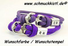 Partnerschmuck Armband für SIE und IHN mit Gravur von www.Schmuckkistl.de auf DaWanda