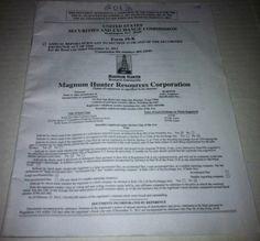 Magnum Hunter Resources Corporation 2012 Proxy Statement  SKU#101