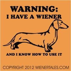 WienerTales.com Dachshund T-Shirts, Collectibles, and Doxie Forum - I Have a Wiener Retro Design T-Shirt - PRE ORDER