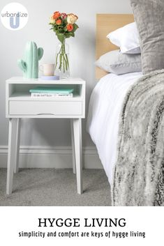 Introduce fluffy rugs and warm blankets to your home Space Furniture, Furniture For Small Spaces, Unique Furniture, Plywood Furniture, Slim Bedside Table, Under Desk Storage, Bedroom Wall, Dream Bedroom, Bedroom Ideas