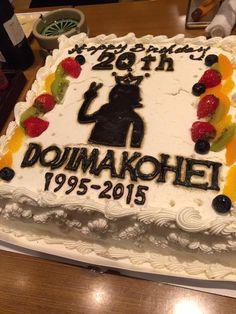 皆さん、ホントにありがとうー!!活動20周年記念公演で中野サンプラザ。5時間ライヴ、やりきりました!これから打ち上げです。楽しみます。スタッフが用意してくれたバースデーケーキ。愛、感じる! Cake, Desserts, Food, Pie, Postres, Mudpie, Deserts, Cakes, Hoods