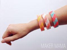 Perler Bead Bracelets by @makermama