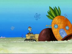 Squidward Bulldozing Patrick and Spongebob's house