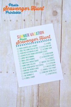Scavenger Hunt Printable   Keep the kids busy with this fun summer activity   Find more on TodaysCreativeLife.com