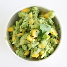 Courtesy of Cynthia Péan, from Afcavé  Happy Cinco de Mayo!  Perfect for a Cinco de Mayo fiesta or a warm weather picnic, this guacamole features a tropical twist. Mango adds a bright pop of color and a sweet burst of flavor. Serve as with baked tortilla chips or fresh veggies for dipping. Alter