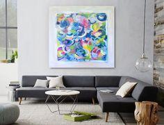 'LiFE GOES ON' original abstract painting by Linnea Heide ©www.linneaheide.com