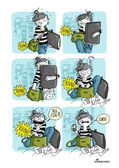 i've been there uu' agustina guerrero · illustration Spanish Humor, Funny Times, Humor Grafico, Girly Quotes, It Goes On, Bored Panda, Drawing For Kids, What Is Like, Funny Photos