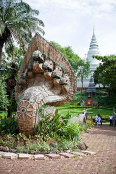 Wat Phnom in the background ~ Phnom Penh, Cambodia