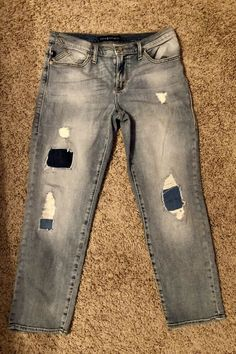 636386c74561a Distressed Womens Size 10 Rock & Republic Capri Denium Jeans #fashion  #clothing #