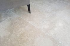 This is simply a unique and beautiful marble floor. A very hard marble flagstone with the pale tones of limestone with a honed surface and a cut edge giving a subtle aged look. Marble Floor, Tile Floor, Marble Tiles, Taupe Kitchen, Flagstone Flooring, Natural Stone Flooring, Flooring Options, Grey Stone, Natural Stones