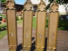French VIntage door plates, brass door hardware,Push plates. Brass door fittings.Brass homes decor.Vintage Door Hardware French Chateau chic by UNIKBOUTIQUE on Etsy
