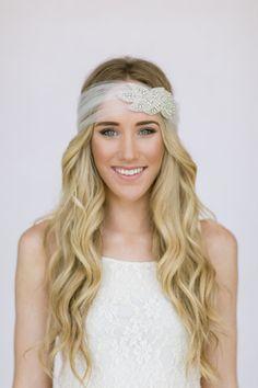 Wedding Head Piece Headband  Crystal Rhinestone by ThreeBirdNest