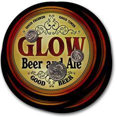 Beer Coasters 4pc Choose Name- Glow Ibay Kult Lydy Maat Mahe Need Ozan Raak Steg #ZuWEE #FathersDayBirthdayWeddingHousewarming