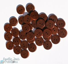 Two Leopardwood Buttons by AuntieJensCreations on Etsy, $2.50