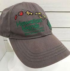 Hawaiian Headwear Islands Gray Snapback Hat Ball Cap Mens Embroidered   HawaiianHeadwear  BaseballCap 11e24a16b784
