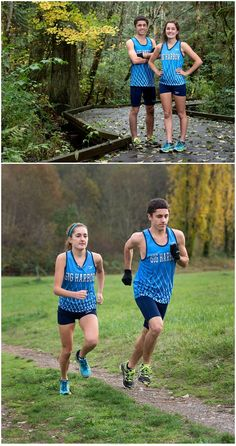 Although they rarely train together, twins Tristan and Brenna Peloquin of Gig Harbor High said they are big fans of each other and are trying to become the first brother-sister duo to win state individual cross country titles this weekend. Photographed by staff photographer Drew Perine on the Tides' home course at Sehmel Homestead Park in Gig Harbor on Tuesday, Nov. 4, 2014.
