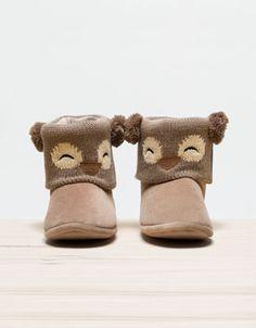 Owl slipper boots