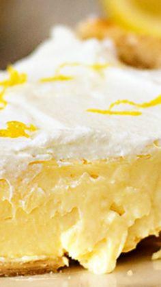 Lemon Cheesecake Pie ~ sweet, lemony and creamy, with just a tiny bit of tartness- yum!