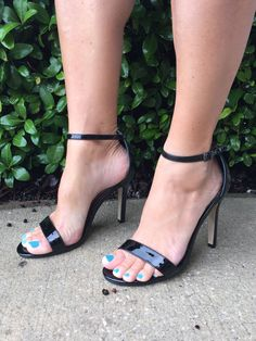 Savannah's Strappy Heels - Black
