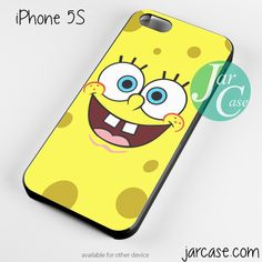 spongebob square pants face Phone case for iPhone 4/4s/5/5c/5s/6/6 plus