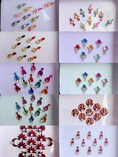 Wholesale Lot 100 Indian Bindi Crystal Swarovski Belly Dance Tattoo Stickers | eBay