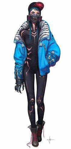 Female Cyberpunk By Adrian Dadich