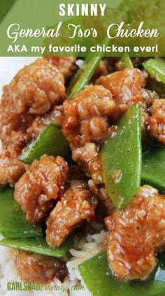 BAKED AND NOT FRIED! Sweet caramel sauce balanced by Asian chili sauce and zingy ginger, all infused with garlic and toasted sesame seed oil. MY FAVORITE CHINESE CHICKEN EVER! | Carlsbad Cravings