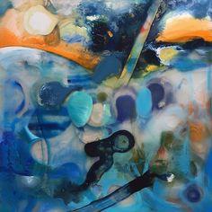 Almost there. Again! #paxos painting. When to stop ? Swimming in the #Ionian Sea walking through the island.  #kent #folkestoneisanartschool  #greece #ioniansea #studio #workinprogress #paxoi #lakkapaxos #sea #greekislands #memories #elsewhere #other #spraypaint #oilpaint #lifecycles #journey  #Enamel #varnish #glue and #Perspex - #printing #Makingapainting  #art #contemporaryart #painting